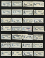 Lot 131 [1 of 7]:Australia: Accumulation in ringbinder mostly stamp show or stamp magazine reprints/reproductions including beer duty labels, PALS labels; also Cambec printers $5 Royal Flying Doctor Service sheetlet of 10, few Victoria registration labels, etc. (qty)