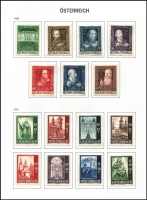 Lot 6 [3 of 3]:Austria 1860s-2000 Collection in two Davo albums with slipcases, fragmented array with mostly part-sets & odd values, some useful pickings including 1908 10kr with telegraph office cancel, 1948 Creative Artists & Reconstuction Fund sets mint, 1949 POW Relief set used & UPU set mint, 1951 Reconstruction Fund set used, etc. Albums alone are worth a fair chunk of the estimate. (100s)