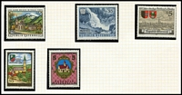 Lot 2 [2 of 4]:Austria 1988-1996 array on album pages and Hagners, mostly MUH, STC £130.