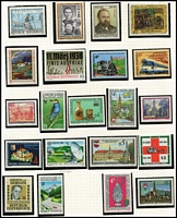 Lot 2 [1 of 4]:Austria 1988-1996 array on album pages and Hagners, mostly MUH, STC £130.