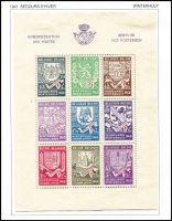 Lot 8 [5 of 5]:Belgium 1849-2004 Collection in three Davo albums with slipcases, fragmented array with some better items including 1869-80 1f lilac, 1893-1900 Sunday Tab set complete (ex 2f mauve/flesh), 1905-08 Sunday Tab set, 1910 Brussel Exhib set mint or used, 1925 Stamp Anniv set used or unused, 1937 Ysaye M/S mint, 1938 Basilica M/S used, 1940 Winter Relief M/Ss mint & used, etc. Certainly worthy of inspection. Albums alone worth a high proportion of estimate. (100s)