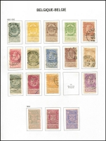 Lot 8 [1 of 5]:Belgium 1849-2004 Collection in three Davo albums with slipcases, fragmented array with some better items including 1869-80 1f lilac, 1893-1900 Sunday Tab set complete (ex 2f mauve/flesh), 1905-08 Sunday Tab set, 1910 Brussel Exhib set mint or used, 1925 Stamp Anniv set used or unused, 1937 Ysaye M/S mint, 1938 Basilica M/S used, 1940 Winter Relief M/Ss mint & used, etc. Certainly worthy of inspection. Albums alone worth a high proportion of estimate. (100s)