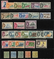 Lot 10 [2 of 3]:British Commonwealth QV-QEII mint assortment with Jamaica 1938 KGVI to 5/- x3 & 10/- mint, 1945 Constitution mint, Turks & Caicos 1957 QEII Pictorials 1d to 10/- set MLH (Cat £120), Virgin Islands 1956 ½c to $2.40 MUH, also GB 1969 2/6d to £1 (x2) Machins MUH, etc, Mostly fine. (150 approx)