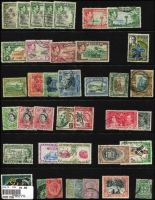 Lot 11 [3 of 4]:British Commonwealth most KGV to early QEII mint & used array on six Hagners with selection from Gibraltar, Jamaica, Sarawak, St Helena, St Lucia, plus a little Australia. (250 approx)