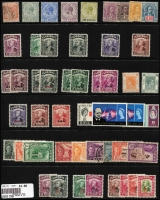 Lot 11 [1 of 4]:British Commonwealth most KGV to early QEII mint & used array on six Hagners with selection from Gibraltar, Jamaica, Sarawak, St Helena, St Lucia, plus a little Australia. (250 approx)