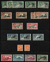 Lot 43 [1 of 5]:Gibraltar 1938-60s Selection with KGVI to 2/- x5, 5/- x2, 10/- x3 & £1 x2, QEII 1953-59 Pictorial set (Cat £120), 1960-62 2/- to £1, some duplication (including better values), generally fine.