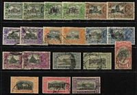 Lot 24 [2 of 2]:India QV-KGV selection with high values including QV 1895 2r, KEVII 2r x2 & 15r (Cat £55), KGV Single Star 1r mint plus 5r x2 & 10r plus 2r optd 'SERVICE' used, KGV Multiple Star, KGVI 15r with Madras parcel cancel (Cat £110), etc; also Kuwait opt on India 1923-24 Wmk Single Star 2r SG #13 fine used with tidy Kuwait datestamp (Cat £120); some blemishes, mostly fine. (68)