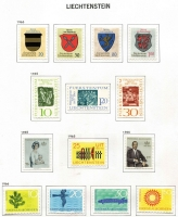 Lot 53 [3 of 4]:Liechtenstein 1917-2003 Collection mint or used in Davo album with slipcase, quite fragmentary with 1917-20s selection and some 1960s-70s set mint, few 1960s-80s M/Ss, etc. (Few 100s).