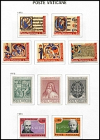 Lot 84 [2 of 3]:Vatican 1929-82 Collection in Davo album (pages to 2006) with slipcase, patchy selection with some 1860s reprints/forgeries, 1960s-70s fairly well populated with sets mint or used, condition mostly fine.