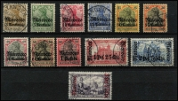 Lot 1336 [2 of 2]:1905 Surcharges 3c on 3pf to 6p25c on 5m set Mi #21-33A, fine/very fine used, Cat €600. (13)