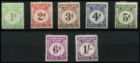 Lot 1509 [2 of 2]:1940 Postage Dues 1d to 1/6d set SG #D1-8, MVLH, Cat £180. (8)