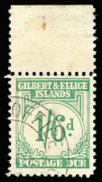 Lot 1566 [1 of 2]:1940 Postage Dues 1d to 1/6d set (ex 2d) SG #D1,D3-8, fine used, Cat £250. (7)
