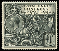 Lot 1350:1929 £1 PUC SG #438, MVLH, Cat £750.