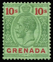 Lot 1557 [1 of 3]:1921-31 Script CA ½d to 10/- set SG #112-134, with Gibbons listed shades, fine mint with key 10/- MVLH, Cat £140+. (28)