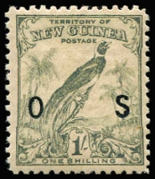 Lot 1397 [3 of 4]:1932-34 Undated Birds Optd 'OS': ½d to 5/- set SG #O42-54, 9d age stain, otherwise fine mint, Cat £275. (13)