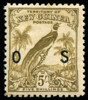 Lot 1397 [1 of 4]:1932-34 Undated Birds Optd 'OS': ½d to 5/- set SG #O42-54, 9d age stain, otherwise fine mint, Cat £275. (13)