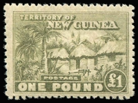 Lot 1390 [1 of 3]:1925-27 Huts ½d to £1 set SG #125-136, faint dealer handstamps most values, MUH, Cat £400. (13)