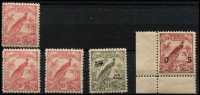 Lot 1261 [2 of 2]:1932-34 Undated Birds Selection with 10/- pink SG #188 x4, £1 Air #203 & 2/- optd 'OS' #O53, all fresh MUH, Cat £335+. (6)