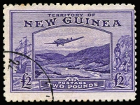 Lot 1394:1935 Bulolo Air £2 bright violet SG #204, some mild tonespots, corner datestamp, Cat £140.