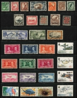 Lot 447 [2 of 4]:1860s-1990s Accumulation on Hagners, mostly used, modest earlier pickings including 1920 Victory unused and 1935 Jubilee set VFU, also a few MUH decimal multiples, plus lots of 1970s-90s sets VFU. (Many 100s)