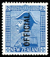 Lot 1787:1927-33 Officials: 2/- light blue Admiral optd 'OFFICIAL.' SG #O112, fine unused, Cat £85.