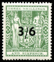 Lot 1628 [2 of 2]:1940-58 Surcharges 3/6 on 3/6d Type I & 11/- on 11/- SG #F212 & F215, fresh MUH, Cat £120. (2)