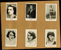 Lot 160 [2 of 4]:German Cigarette Cards: 1930s Sieber (Berlin) 'World's Most Beautiful Women' in 30pp special album containing 180 cards (glued down), minor spotting on album, cards are fine. Delightful.
