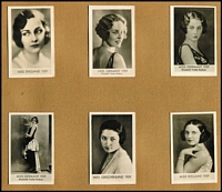 Lot 109 [3 of 4]:German Cigarette Cards: 1930s Sieber (Berlin) 'World's Most Beautiful Women' in 30pp special album containing 180 cards (glued down), minor spotting on album, cards are fine. Delightful.