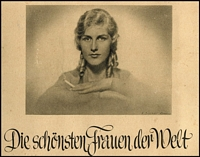 Lot 109 [1 of 4]:German Cigarette Cards: 1930s Sieber (Berlin) 'World's Most Beautiful Women' in 30pp special album containing 180 cards (glued down), minor spotting on album, cards are fine. Delightful.