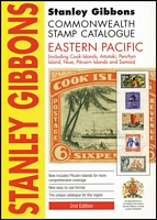 Lot 178:Eastern Pacific - SG Catalogue: (including Cook Is, Aitutaki, Penrhyn Is, Niue, Pitcairn Is & Samoa) published by Stanley Gibbons (2dn Edn, 2011), 144pp softbound, very fine condition.