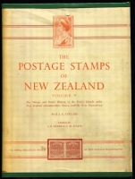 Lot 185:New Zealand: Postage Stamps of New Zealand Volume V (1967) covering stamps & postal history of Cook Islands, Niue, Samoa and other Dependencies, 818pp hardbound, minor blemishes & spotting on end pages, numbered #406 of just 1,000 published. An important reference.