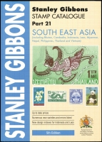 Lot 199:South East Asia - SG Catalogue (Part 21): including Bhutan, Cambodia, Indonesia, Laos, Myanmar, Nepal, Philippines, Thailand & Vietnam, published by Stanley Gibbons (5th Edn, 2012) 678pp softbound, as new.