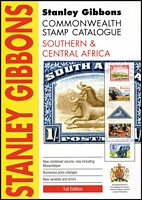 Lot 200:Southern & Central Africa - SG Catalogue: published by Stanley Gibbons (1st Edn, 2011), 362pp softbound, as new.