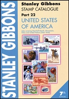 Lot 206:United States of America - SG Catalogue (Part 22): published by Stanley Gibbons (7th Edn, 2010), 476pp softbound, as new.