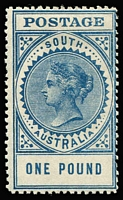 Lot 805 [1 of 4]:1904-12 Thick Postage Mint Accumulation of Crown/SA & Crown/A watermarks, excellent range of shades/printings with 3d x3, 4d x10, 6d x8, 8d x8, 9d x16, 10d x4 including a pair, 1/- x14 including a pair, 2/6d x8 (Crown/SA x4 & Crown/A x4 including deep purple shade), 5/- x4 (Crown/SA x3 & Crown/A x1), 10/- x2 & £1 x2 SG #292 (toning) & 292a, some blemishes, generally fine/very fine, Cat £2,800+. (79)