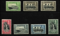 Lot 1651 [3 of 3]:1936 KGV Pictorials ½d to 10/- set SG #113-24, all MUH except a few MVLH low values & the 1d P13x12 (MLH), Cat £110. (13)