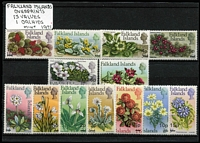 Lot 1164 [2 of 7]:Orchids: 'D' to 'G' countries selection of sets, part-sets, odd values & M/Ss featuring orchids including Falklands 1968 Flowers long set to £1 and 1971 Surcharge set, all on stockcards with Gibbons catalogue numbers identified on reverse, odd tone, some mounted, mostly fresh MUH. (few 100s)