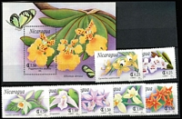 Lot 1166 [3 of 8]:Orchids: 'N' to 'R' countries selection of sets, part-sets, odd values & M/Ss featuring orchids including Nevis 1984 to $10, on stockcards with Gibbons catalogue numbers identified on reverse, odd tone, some mounted, mostly fresh MUH. (few 100s)