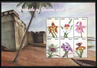 Lot 1432 [2 of 8]:Orchids: 'D' to 'G' countries selection of sets, part-sets, odd values & M/Ss including Gambia 2001 set & M/Ss, Ghana 2001 African Orchids & M/Ss, Grenada 2000 set & M/Ss, Guyana 1990 Birds, etc; items identified by Gibbons catalogue reference, mostly fresh MUH. (few 100s)