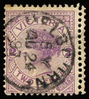 Lot 793 [1 of 4]:1890s-1913 Varieties Selection with 1d x2 & 2d all with Double perfs, 1886-96 2d Watermark reversed (rare), 1901-10 1d Die II Watermark sideways x2, 1d x2 with Brusden White listed flaws (both duplicated), condition mostly fine. (10)