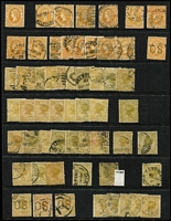 Lot 377 [2 of 4]:Late Period Accumulation mostly used with useful mint content including 1901-13 (V/Crown or Crown/A) 2½d x4, 3d x4, 4d x7, 5d x5, 6d x6, 9d x3, 1/- x3 & 2/- marginal; also heavily duplicated used with a few official perfins used to 2/-. (100s)