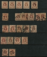 Lot 377 [3 of 4]:Late Period Accumulation mostly used with useful mint content including 1901-13 (V/Crown or Crown/A) 2½d x4, 3d x4, 4d x7, 5d x5, 6d x6, 9d x3, 1/- x3 & 2/- marginal; also heavily duplicated used with a few official perfins used to 2/-. (100s)