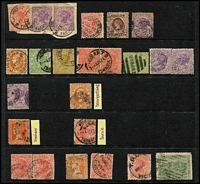 Lot 427 [3 of 3]:Assortment: with datestamps including Melbourne types, TPOs, Victoria used in Tasmania, SA or WA, etc. (100+)