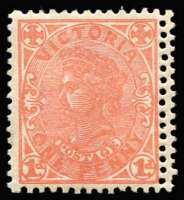 Lot 1201 [3 of 3]:1901-13 Double Perfs Selection comprising 1901-10 V/Crown 1½d maroon/yellow vertical pair (few tonespots) with variety between stamps and 2d lilac between stamp and right margin & 1905-13 Crown/A with the variety on right side. (3)