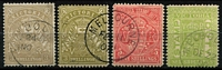 Lot 1202 [2 of 2]:Stamp Duty CTO Group comprising 3/- olive-drab, 3/- pale olive (with gum), 5/- rose-red (with gum), 6/- pale yellow-green x2 ('OC3' or 'DE22' 1900 cancels), all with Melbourne CTO datestamps. (5)
