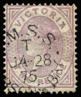 Lot 986:RMSS Hobsons Bay: first type '[R.]M.S.S./T/JA28/75/[HO]BSONS