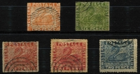 Lot 940 [2 of 2]:Forgeries Selection comprising imperf 2d Hillman plus 2d orange & 6d green (thin), plus perforated 1d x2 (one thinned) & 2d. (6)