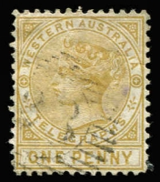 Lot 955 [2 of 2]:1879 1d bistre P12½ & 6d violet P14 SG #T1a & T2, fine used, Cat £240+. (2)