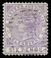 Lot 955 [1 of 2]:1879 1d bistre P12½ & 6d violet P14 SG #T1a & T2, fine used, Cat £240+. (2)
