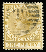 Lot 954 [2 of 2]:1879 1d bistre P14 & 6d violet P14 SG #T1 & T2, fine used, Cat £240+. (2)